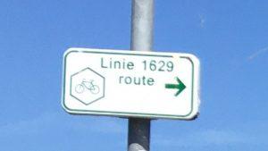 wegwijzer linie 1629 route