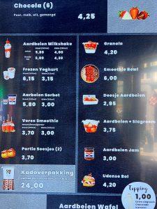 menu aardbeien walk in